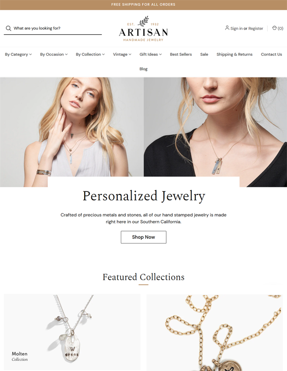 BigCommerce Themes For Jewelry Stores feature