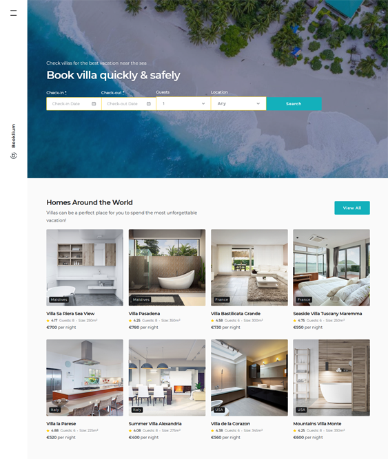 Hotel And Vacation Rental WordPress Themes feature
