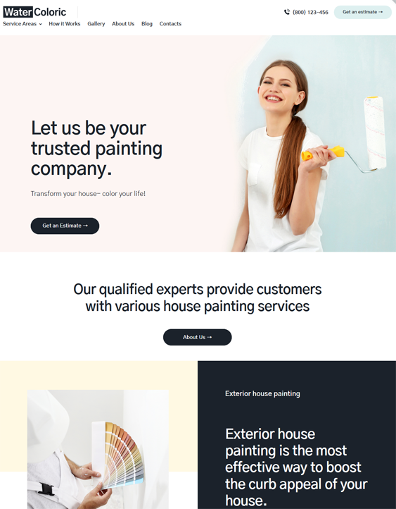 WordPress Themes For House Painters And Painting Companies feature