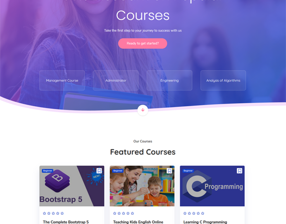 Education WordPress Themes feature