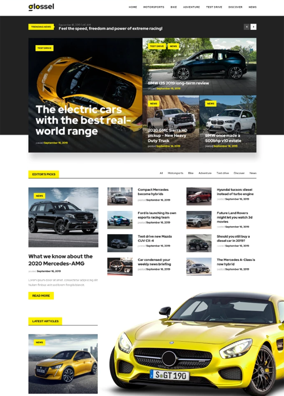 Car, Vehicle, And Automotive WordPress Themes