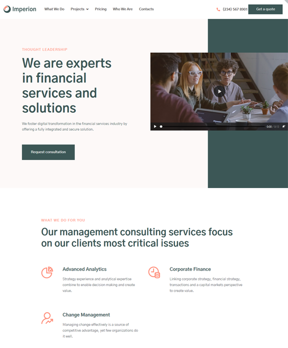 Financial WordPress Themes For Finance Websites feature