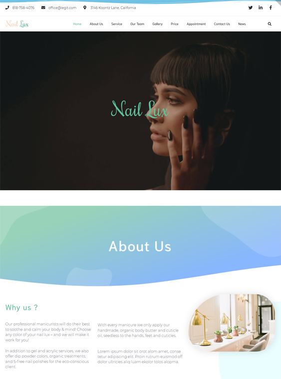 WordPress Themes For Salons And Spas
