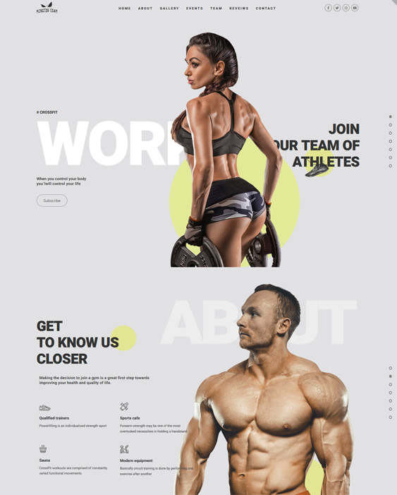 Gym And Fitness WordPress Themes