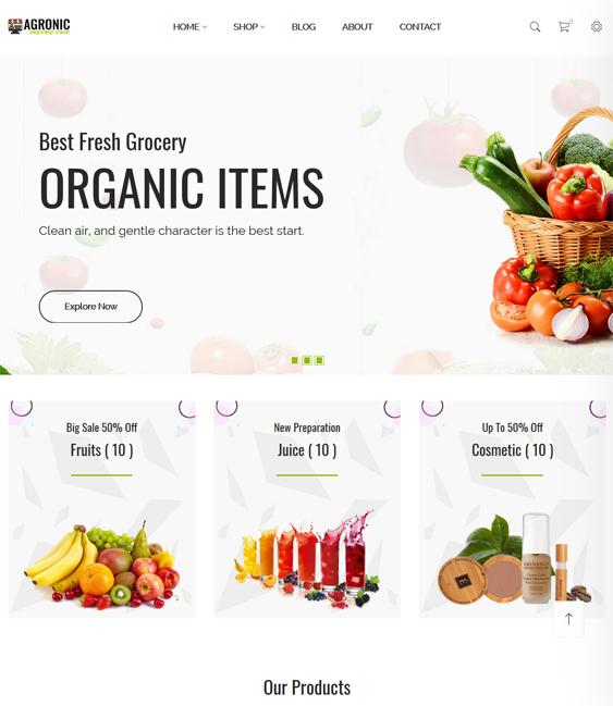 Shopify Themes For Selling Organic Food And Groceries feature