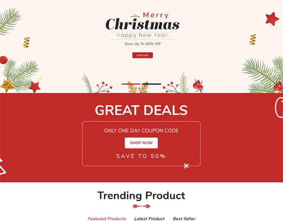 Christmas Shopify Themes feature