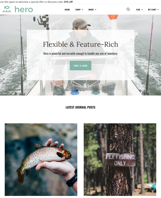 BigCommerce Themes For Selling Outdoor Goods And Hiking And Camping Equipment