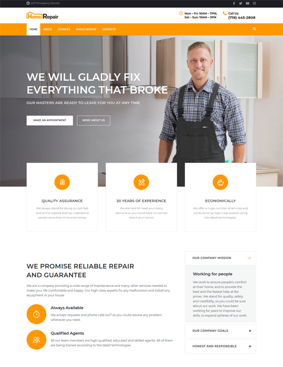 WordPress Themes For Building Contractors And Constructions Companies