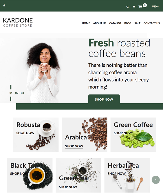 Shopify Themes For Coffee Shops And Stores feature