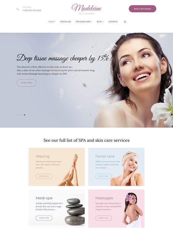 WordPress Themes for Massage Salons and Therapists