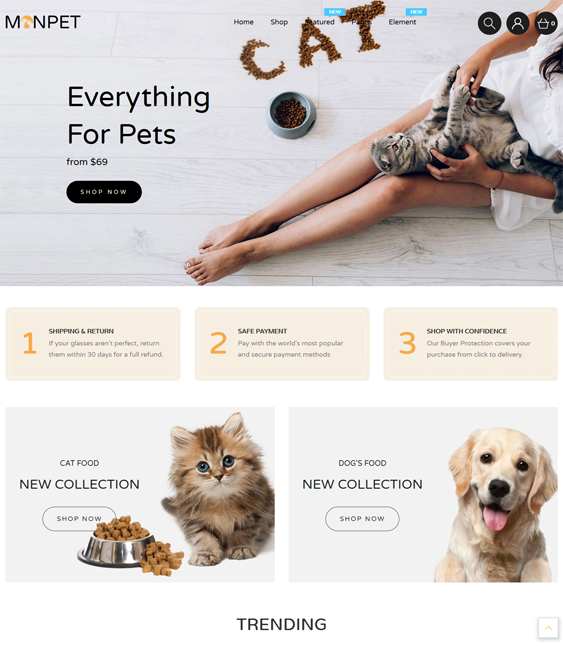 Playful And Fun Shopify Themes For Online Pet Stores feature