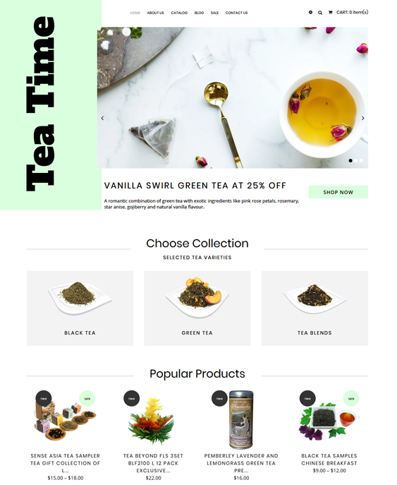Shopify Themes For Tea Shops