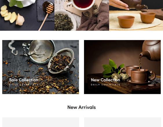 Shopify Themes For Tea Shops feature