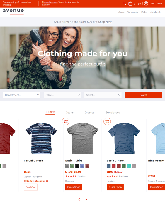Shopify Themes For Tshirt Stores