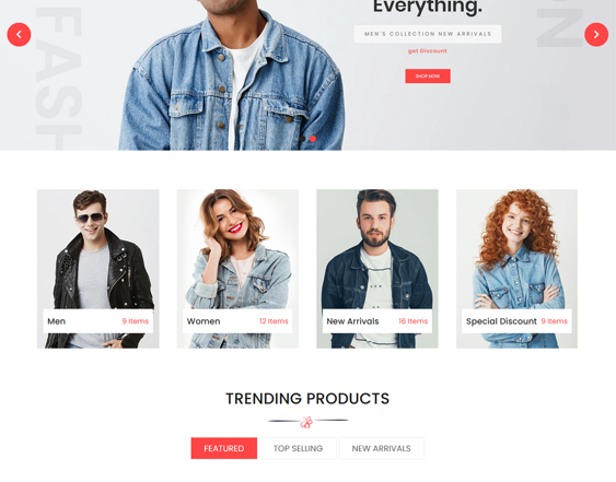 Shopify Themes For Selling Women's And Men's Clothing feature