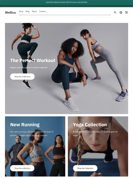 Shopify Themes For Selling Sportswear And Activewear feature