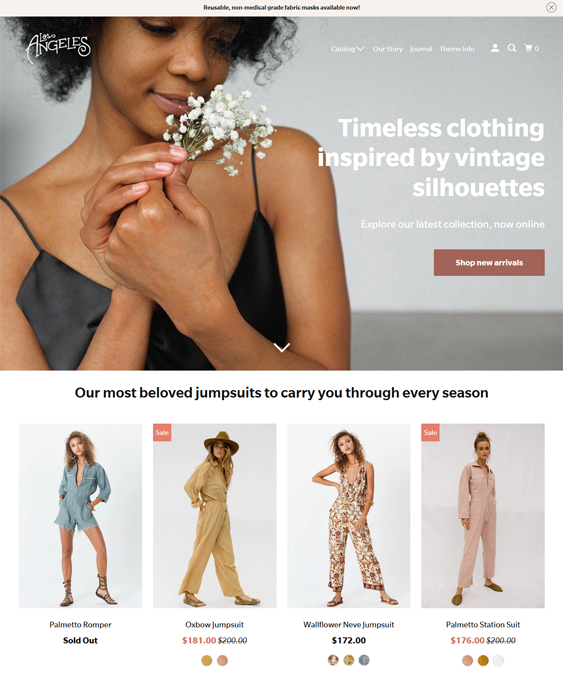 Shopify Themes For Selling Women's And Men's Clothing