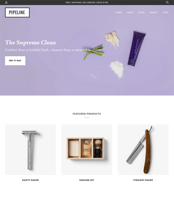 Shopify Themes Clean Beauty Stores