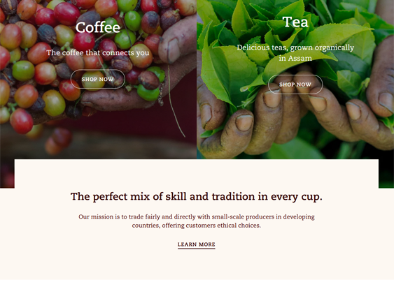 Shopify Themes For Coffee Shops And Tea Stores feature