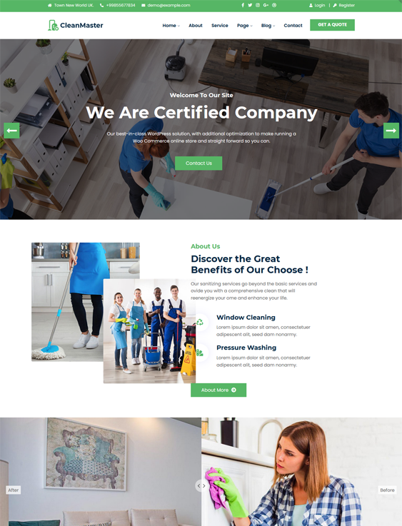 WordPress Themes For Cleaners And Cleaning Companies feature
