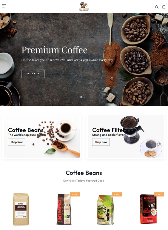Shopify Themes For Coffee Shops And Tea Stores