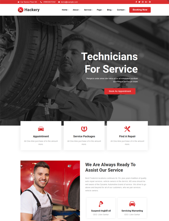 This car, vehicle, and automotive WordPress theme feature