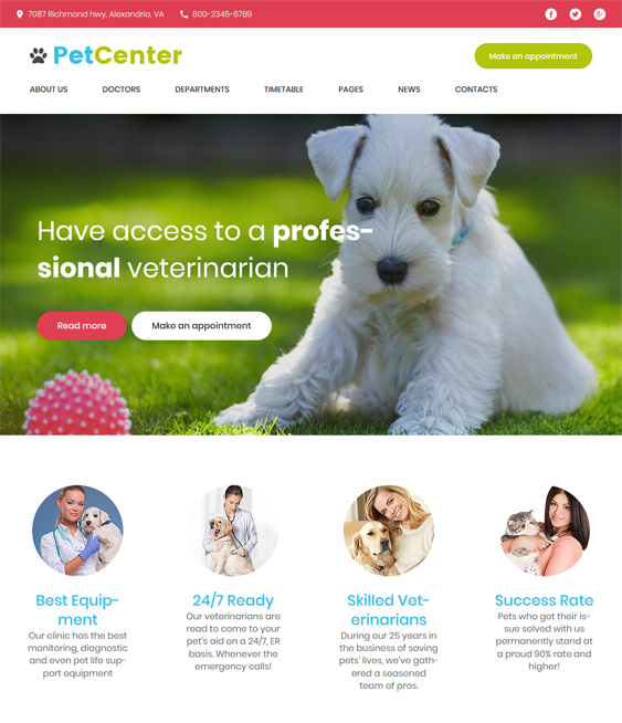 WordPress Themes For Pets And Vets