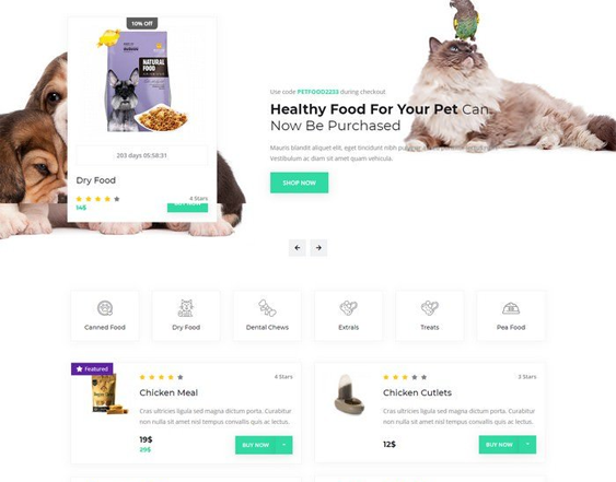 WordPress Themes For Pets And Vets feature
