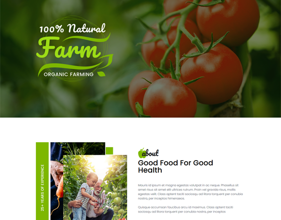 Farm And Agriculture WordPress Themes feature