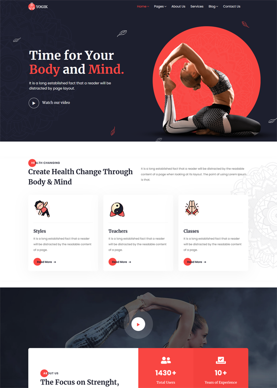 WordPress Themes For Yoga Instructors And Studios feature