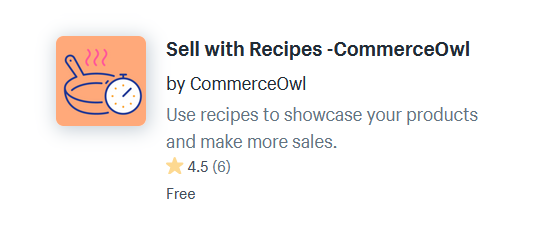 Recipe Shopify Apps And Plugins