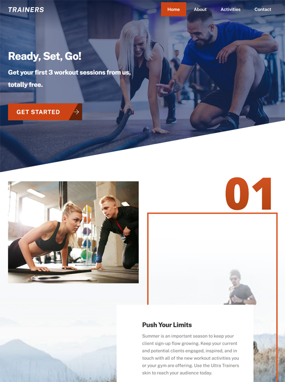 WordPress Themes For Personal Fitness Trainers