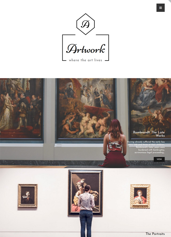 Museum WordPress Themes feature