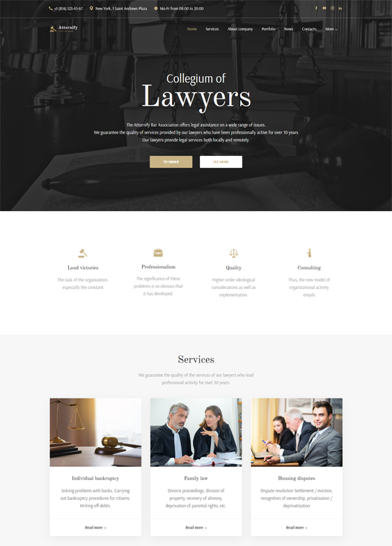 WordPress Themes For Lawyers, Attorneys, And Law Firms