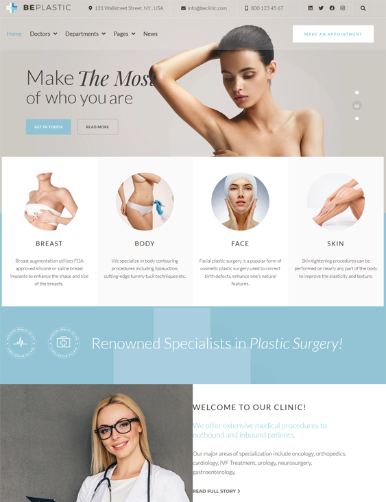 WordPress Themes For Plastic Surgeons And Cosmetic Surgery Clinics feature