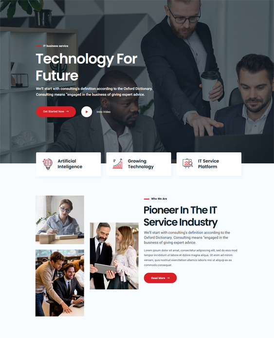 WordPress Themes For IT Solutions And Services feature