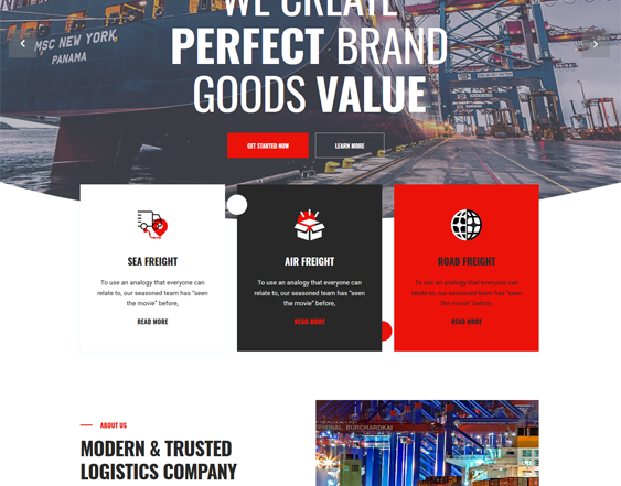 Logistics And Transportation WordPress Themes feature