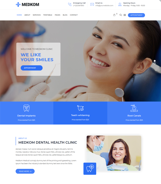 WordPress Themes For Dentists And Dental Clinics feature
