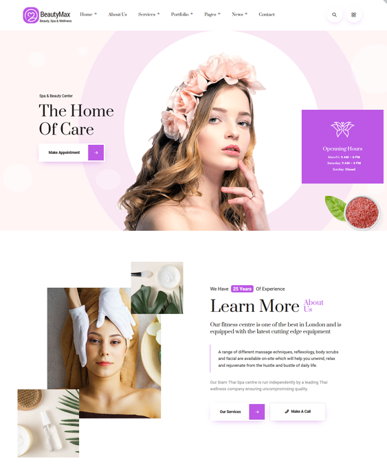 WordPress Themes For Beauty Salons And Spas