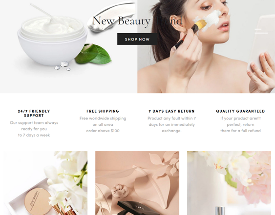 Shopify Themes Clean Beauty Stores feature
