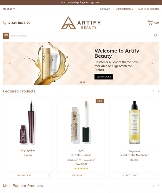 BigCommerce Themes For Online Health And Beauty Stores