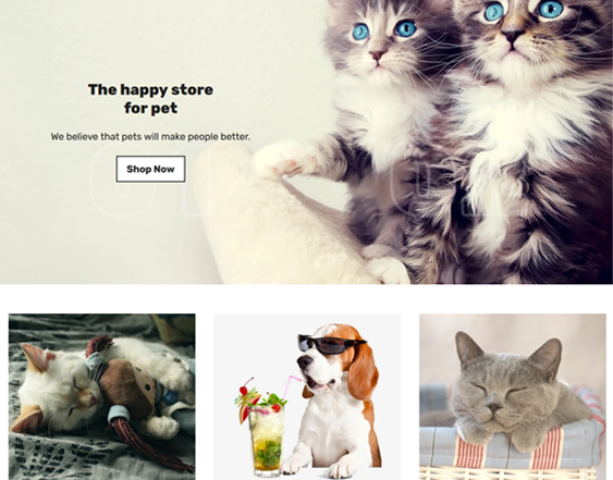 Shopify Themes For Online Pet Stores feature