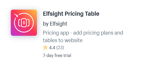 Shopify Apps For Pricing Tables