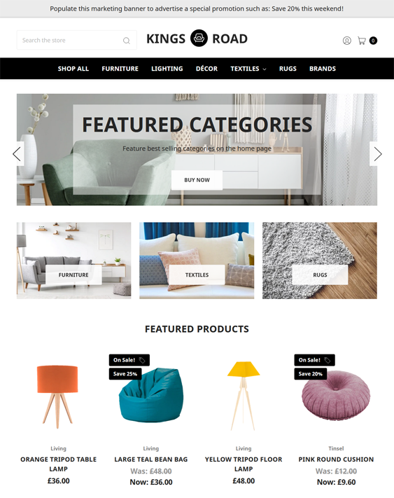 BigCommerce Themes For Home Decor And Interior Design Stores feature