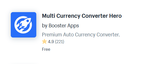Currency Converter And Switcher Shopify Apps