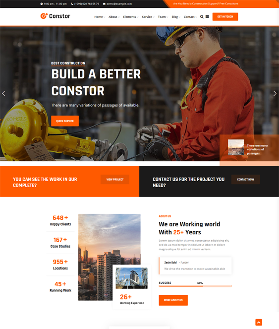 WordPress Themes For Construction Websites