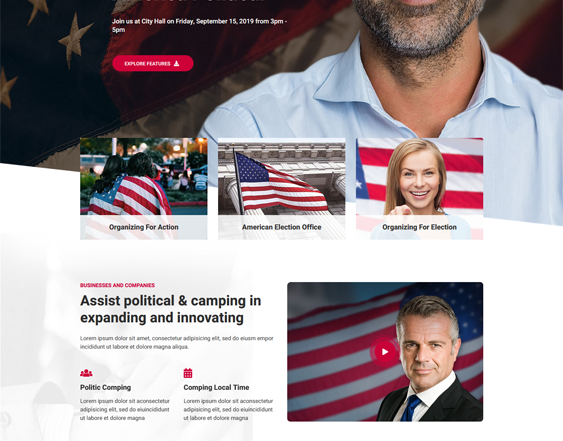 Political WordPress Themes feature