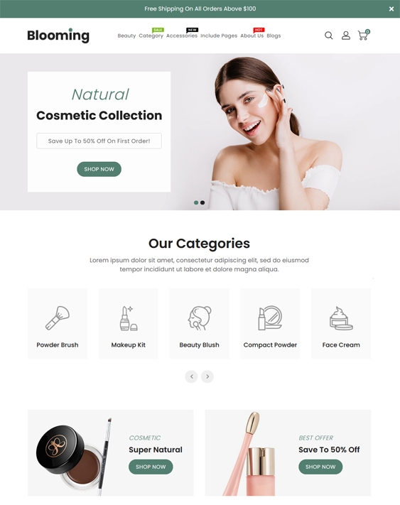Shopify Themes For Selling Makeup, Cosmetics, Skincare, And Beauty Products