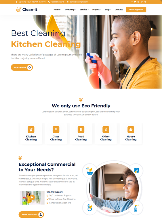 WordPress Themes For Cleaning Companies, Maids, And Cleaners