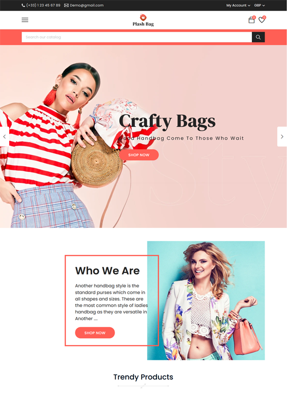 Shopify Themes For Selling Purses, Backpacks, And Handbags
